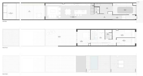 Reforma interior d'un habitatge unifamiliar entre mitgeres